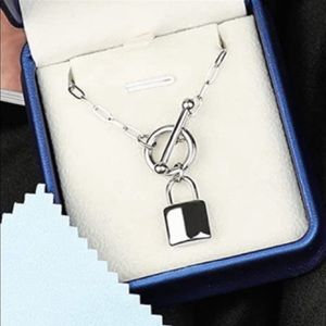 14k white gold chain link padlock pendant silver toggle necklace